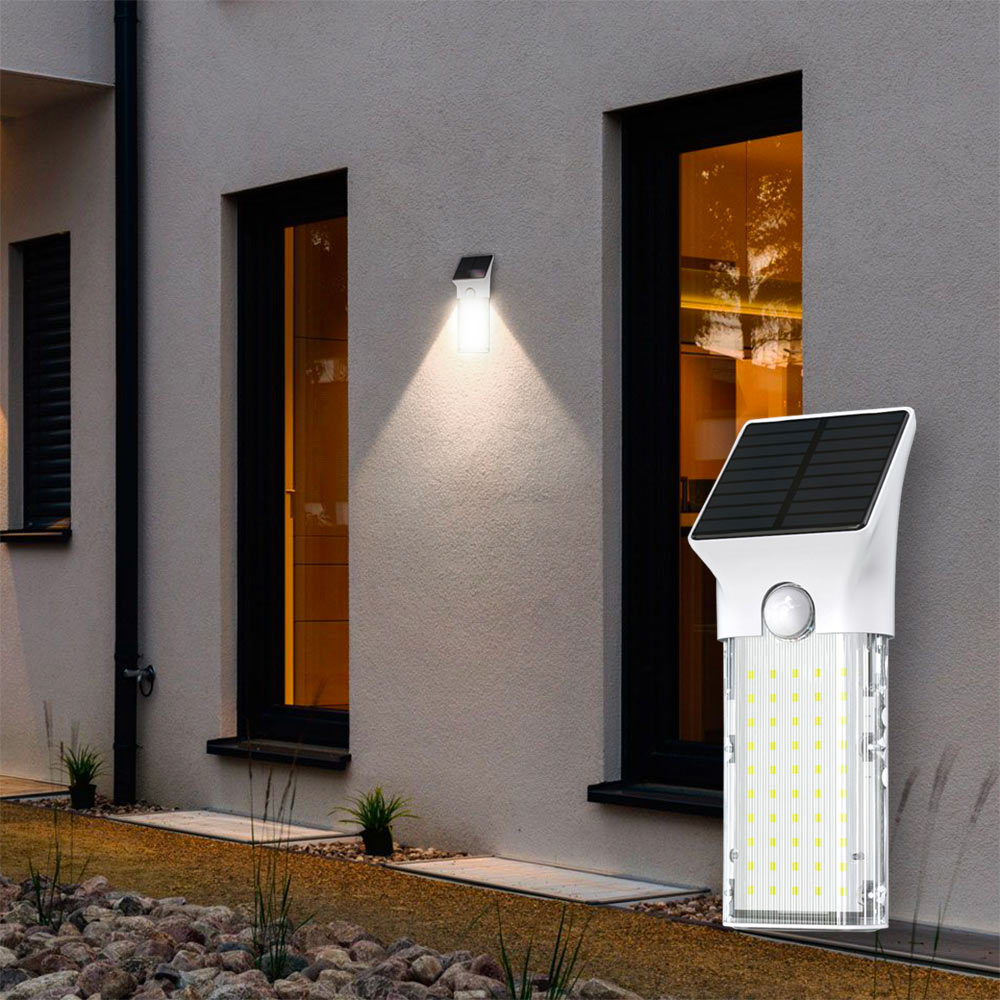Lampada Applique Solare Luce Led UV Igienizzante Movimento Portatile SECURITY - outdoor