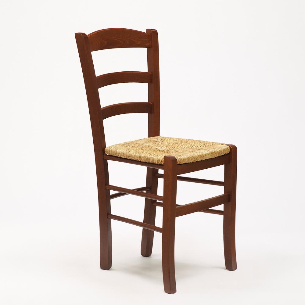 Sedie Da Cucina Impagliate.Paesana Sedia In Legno Con Seduta Impagliata Cucina Trattoria Rustica