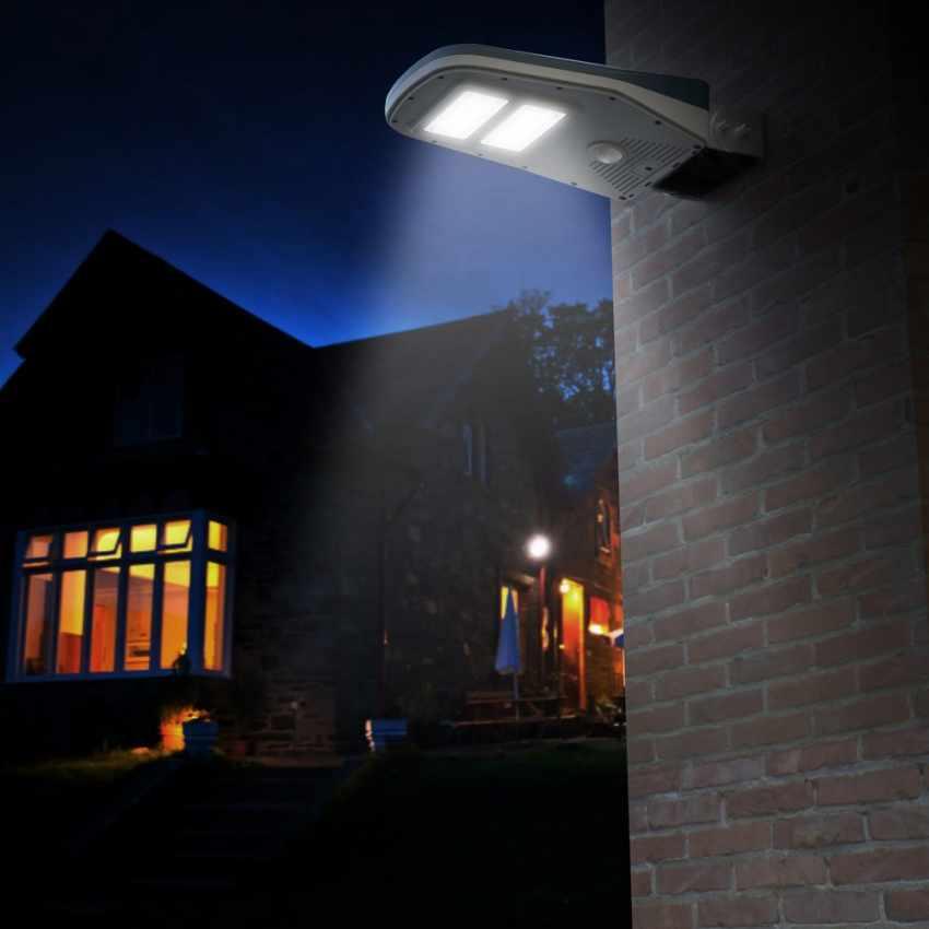 Lampione Stradale Solare a Led Giardino con Telecomando e Sensore di Movimento CALLISTO - best