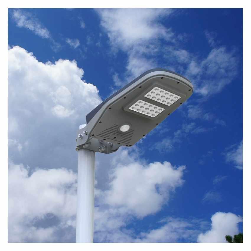 Lampione Stradale Solare a Led Giardino con Telecomando e Sensore di Movimento CALLISTO - indoor