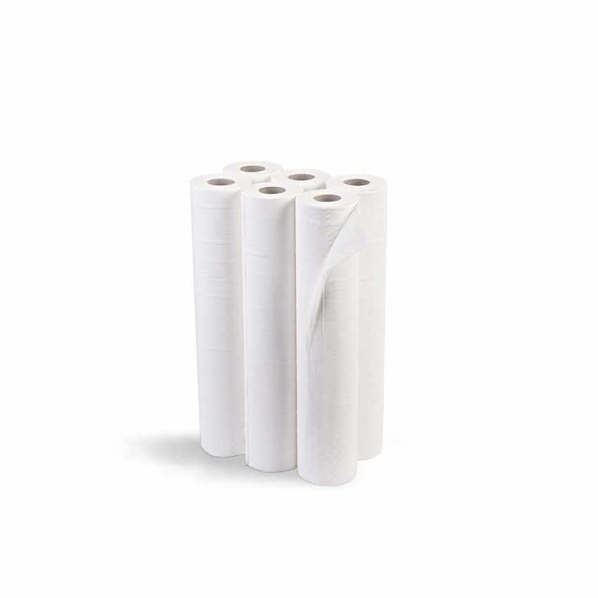 Stock Rouleaux de papier pour table de massage draps médicaux largeur 68 cm offre 6 pcs - sales
