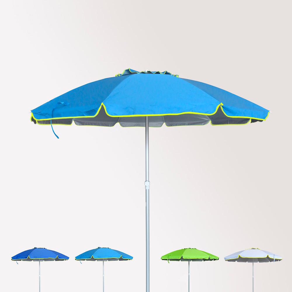 Ombrelloni Da Spiaggia Grandi.Ombrellone Antivento In Alluminio Spiaggia Mare Con Antiuv 220cm Roma