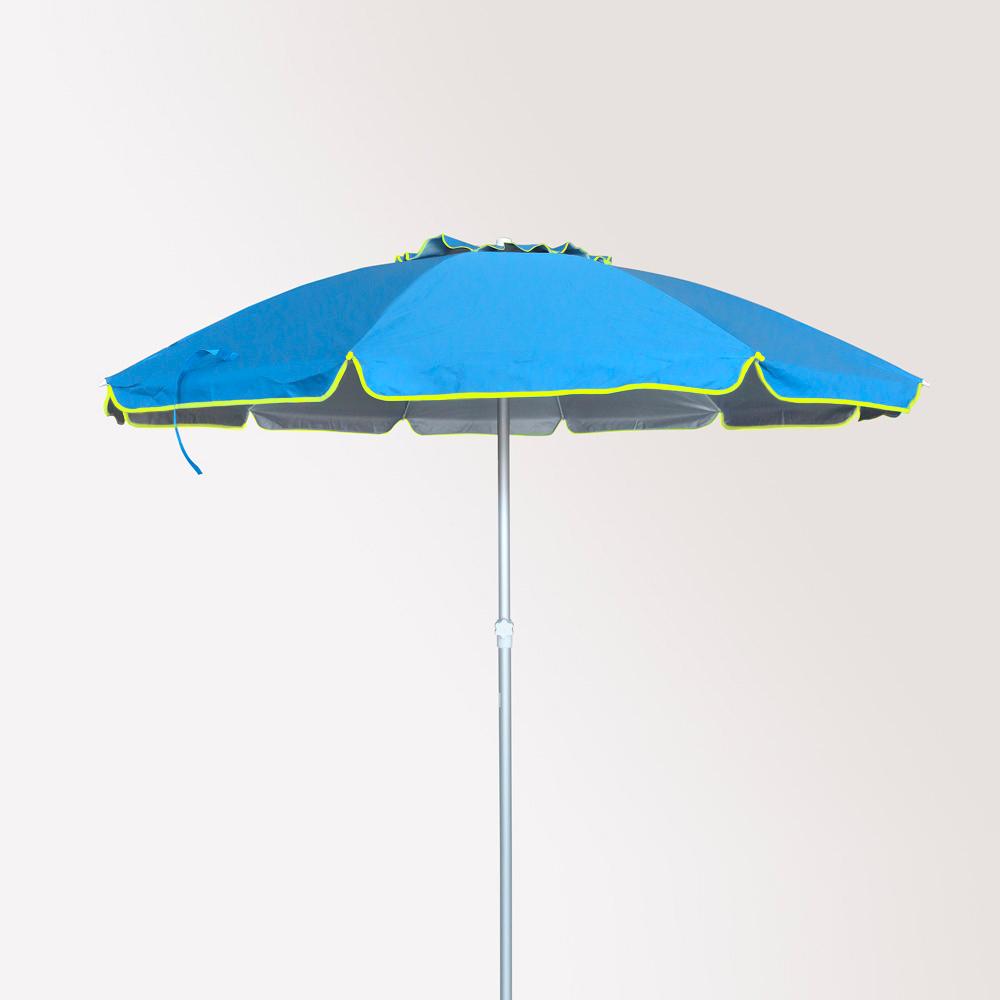 miniature 21 - Parasol de plage 220 cm aluminium antivent protection uv Roma