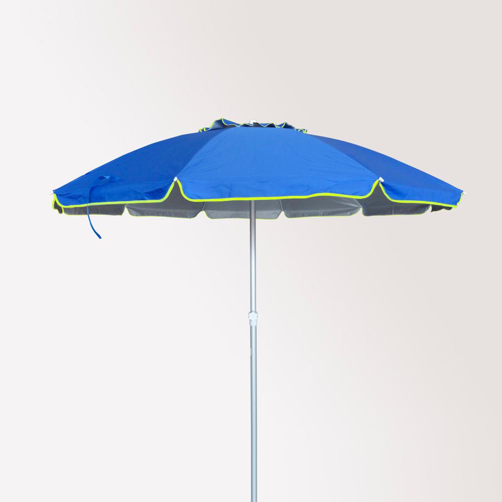 miniature 17 - Parasol de plage 220 cm aluminium antivent protection uv Roma
