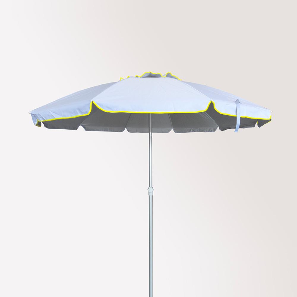 miniature 25 - Parasol de plage 220 cm aluminium antivent protection uv Roma