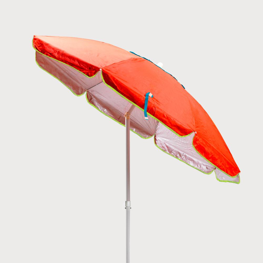 miniatura 26 - Ombrellone mare spiaggia 200 cm antivento acciaio tessuto protezione uv SARDEGNA