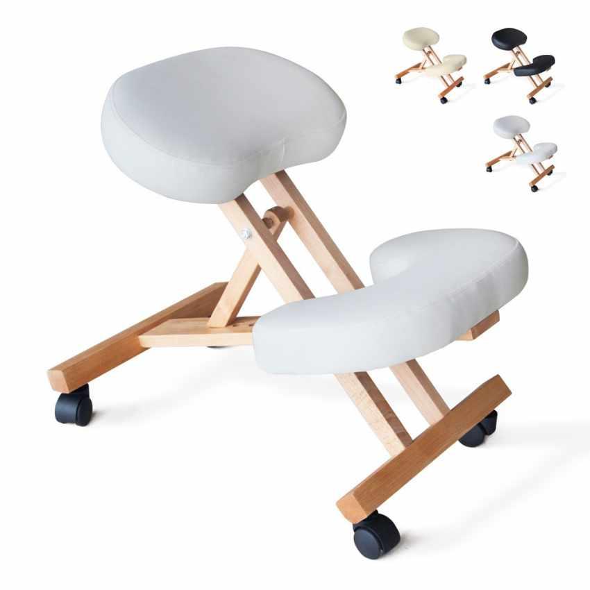 Sedia legno ortopedica sgabello svedese ufficio ergonomica schiena BALANCEWOOD
