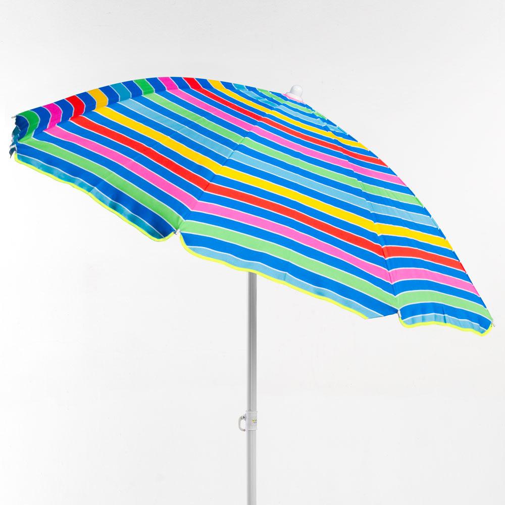miniature 14 - Parasol de plage 200 cm portable coton Taormina