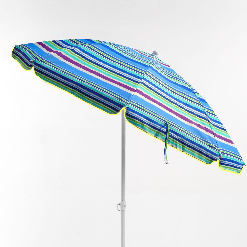 miniature 26 - Parasol de plage 200 cm portable coton Taormina