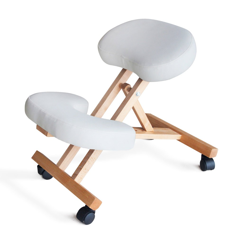 Sedia-legno-ortopedica-sgabello-svedese-ufficio-ergonomica-schiena-BALANCEWOOD miniatura 14