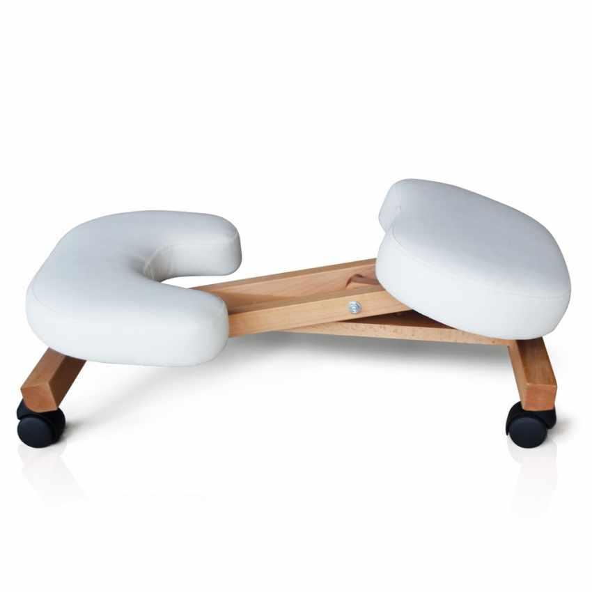 Chaise orthopédique de bureau en bois confortable siège ergonomique BALANCEWOOD - scontato
