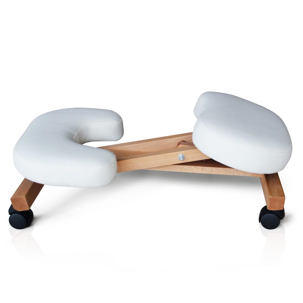 Sedia-legno-ortopedica-sgabello-svedese-ufficio-ergonomica-schiena-BALANCEWOOD miniatura 15