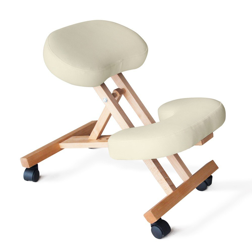 Sedia-legno-ortopedica-sgabello-svedese-ufficio-ergonomica-schiena-BALANCEWOOD miniatura 18