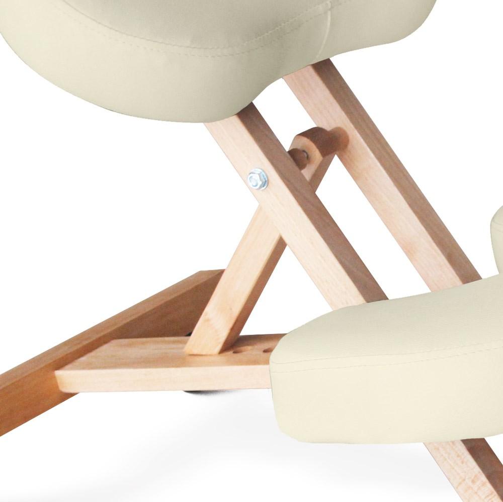 Sedia-legno-ortopedica-sgabello-svedese-ufficio-ergonomica-schiena-BALANCEWOOD miniatura 19
