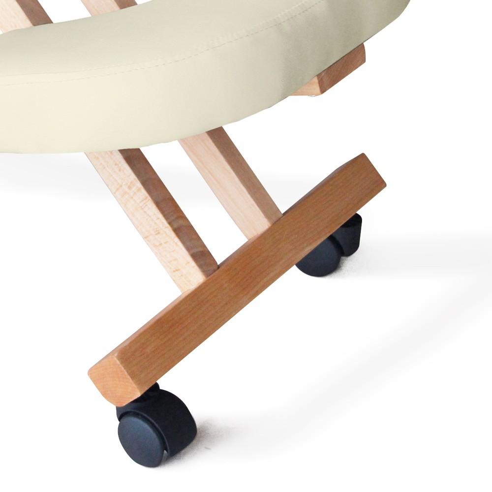 Sedia-legno-ortopedica-sgabello-svedese-ufficio-ergonomica-schiena-BALANCEWOOD miniatura 20