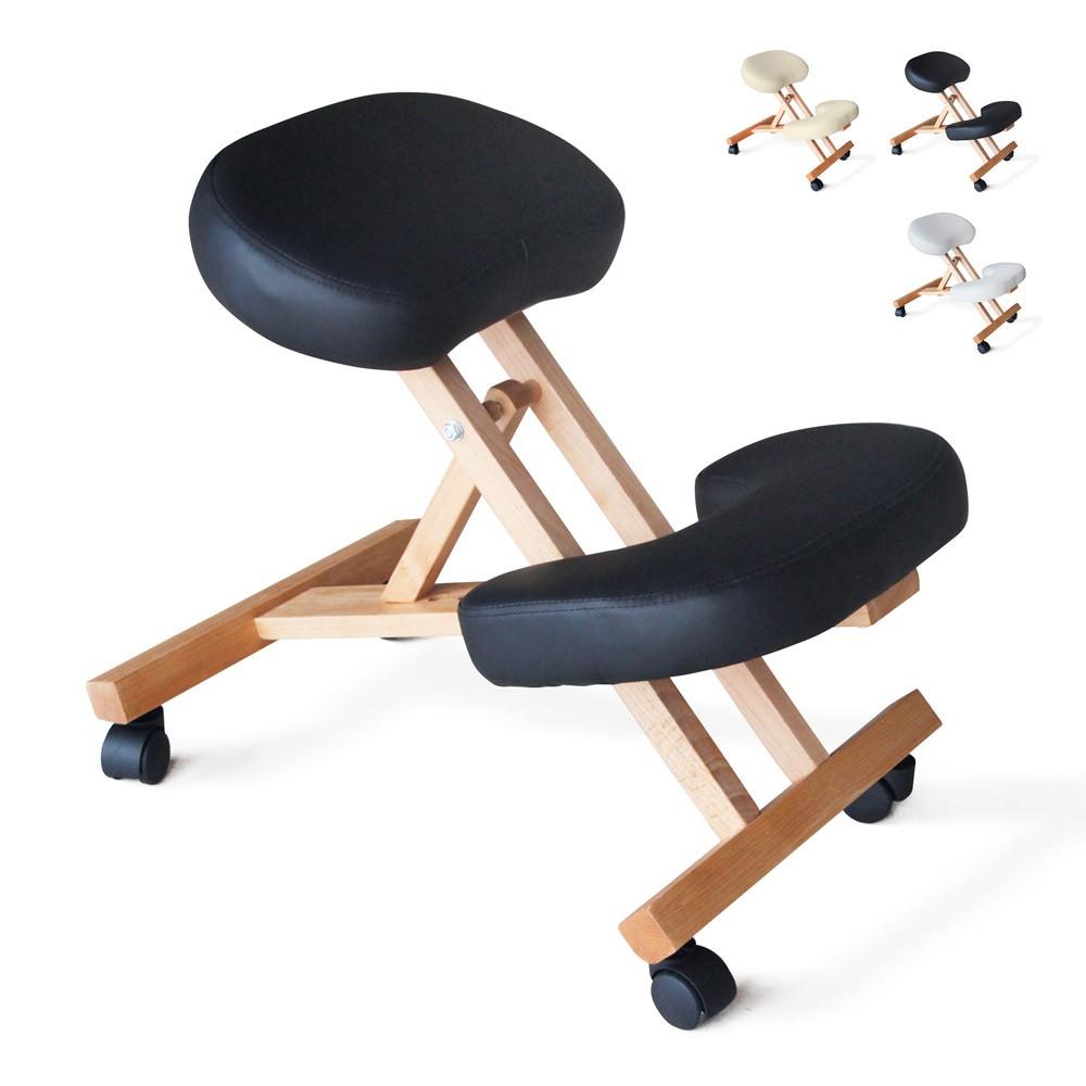 Chaise-orthopedique-de-bureau-en-bois-confortable-siege-ergonomique-BALANCEWOOD miniature 24
