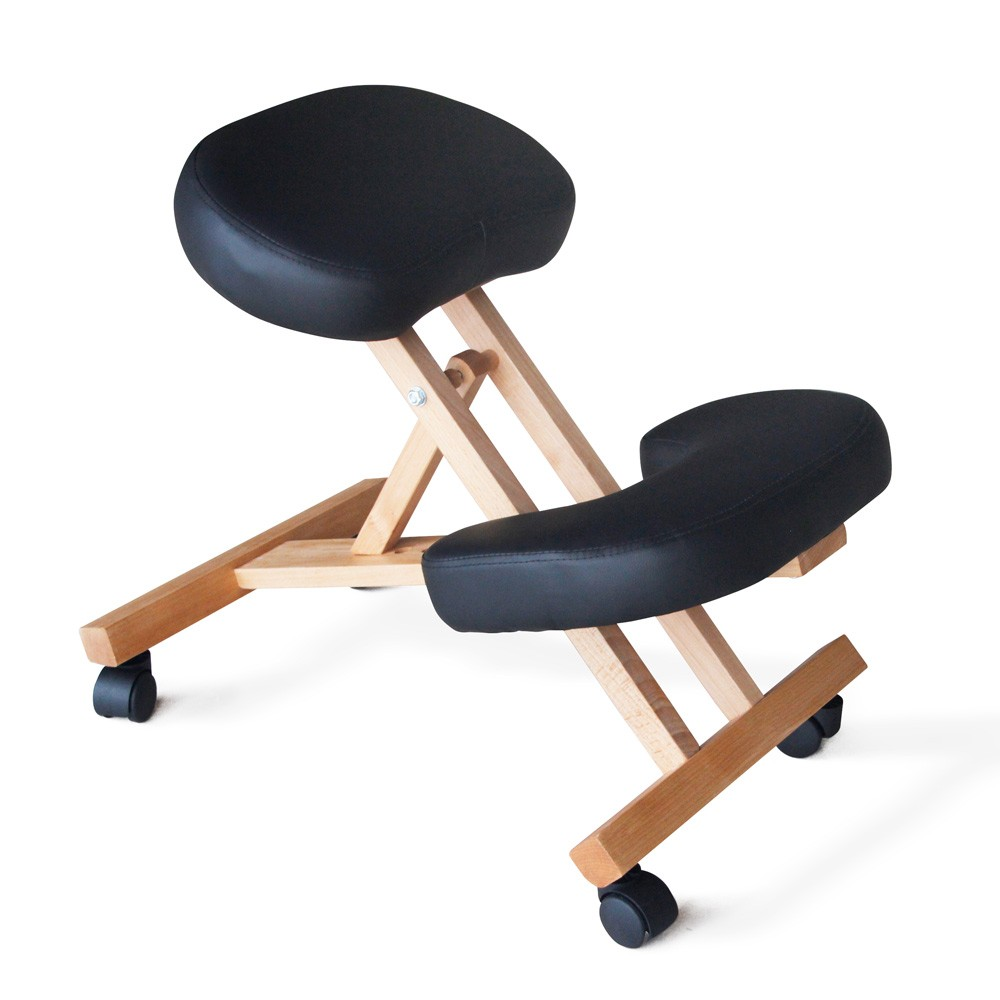 Sedia-legno-ortopedica-sgabello-svedese-ufficio-ergonomica-schiena-BALANCEWOOD miniatura 23