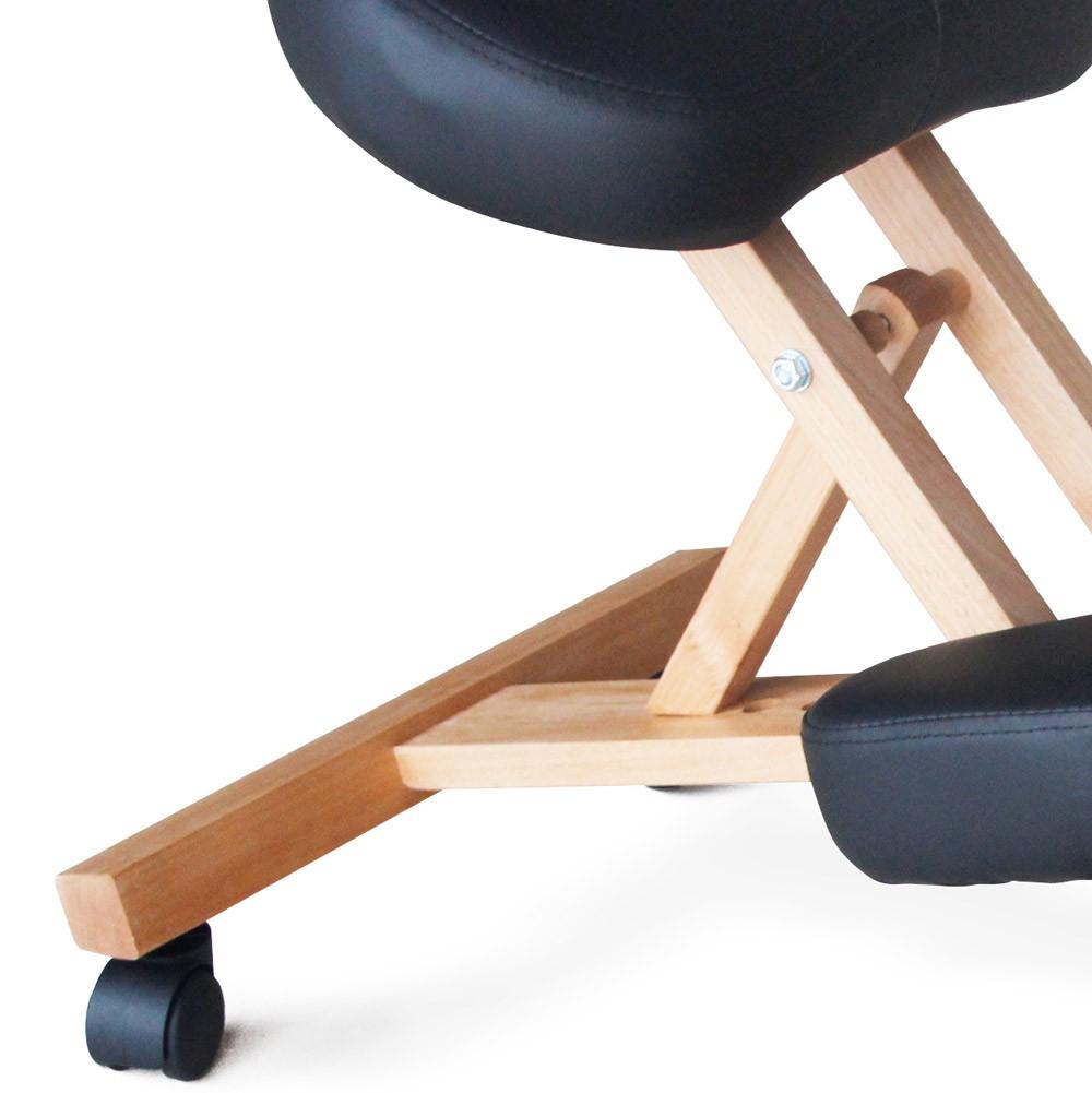 Sedia-legno-ortopedica-sgabello-svedese-ufficio-ergonomica-schiena-BALANCEWOOD miniatura 24