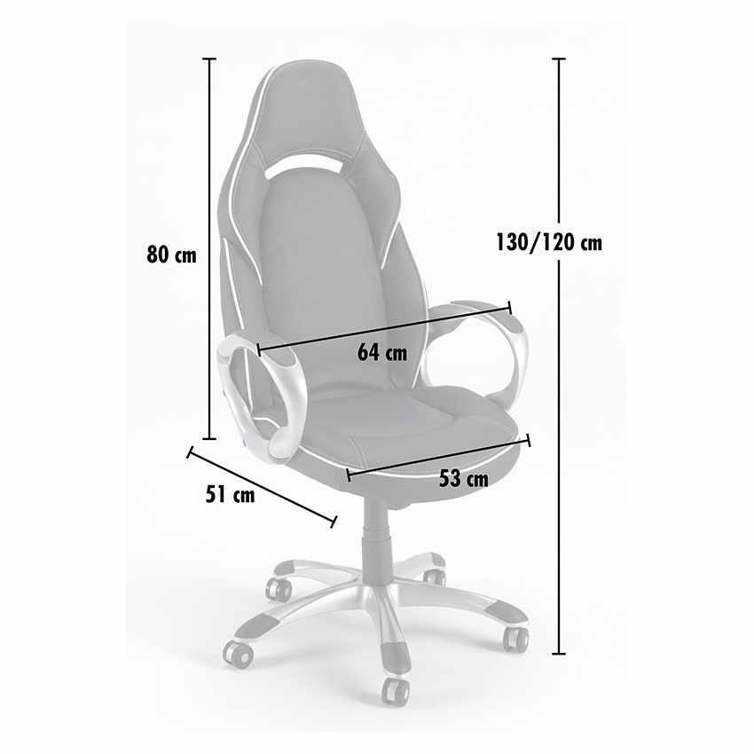 Chaise de bureau sport fauteuil gamer ergonomique simili cuir CLASSIC - sales