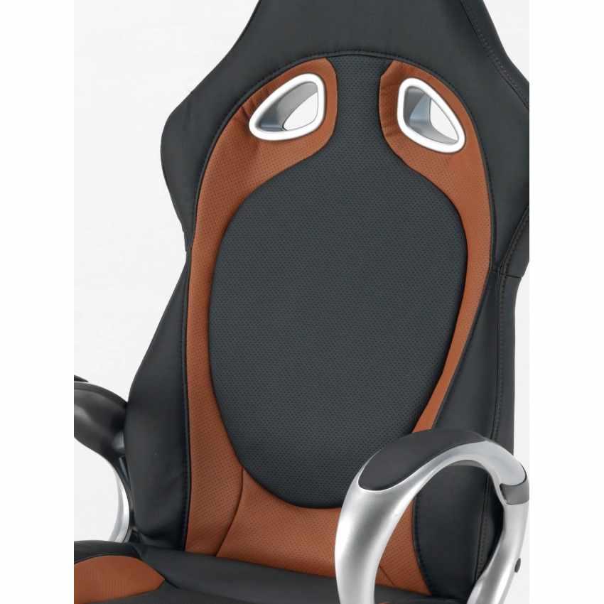 Sportsitz Racingchair Chefsessel Gamingstuhl Bürostuhl Kunstleder ergonomisch RACE - offerta