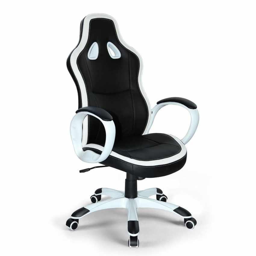 Silla de oficina deportiva sillòn gaming comoda ergonomica racing SUPER SPORT - scontato