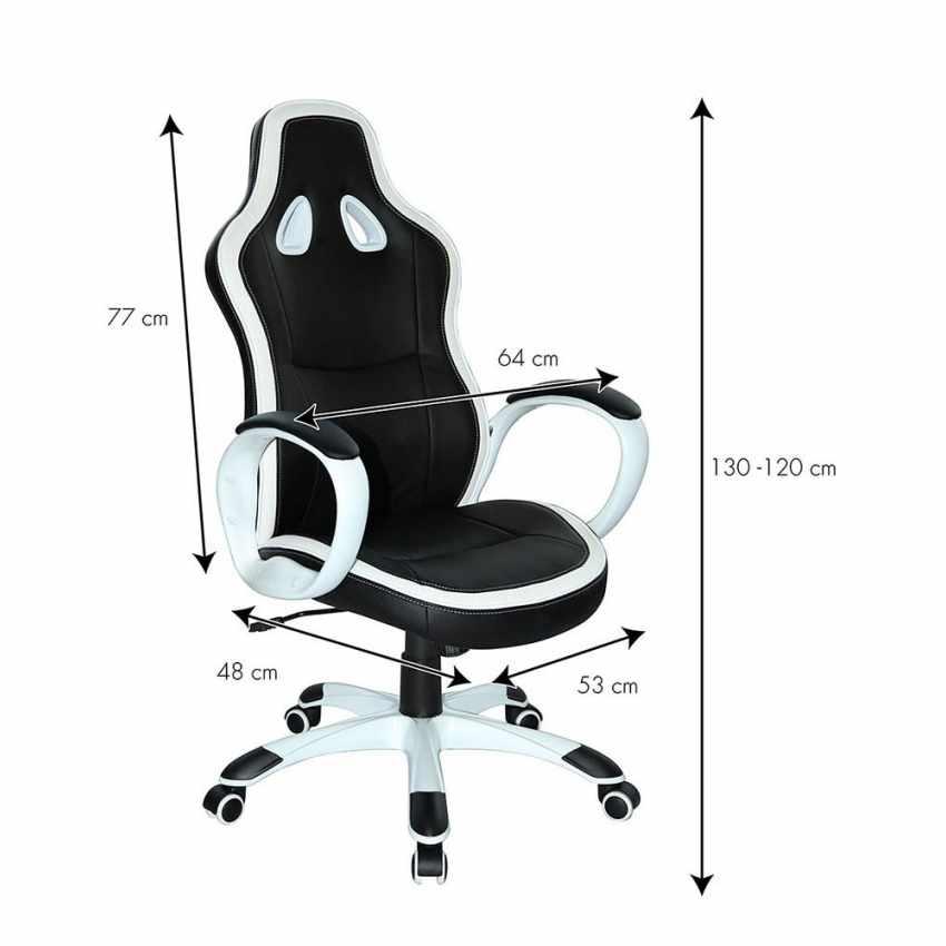 Chaise de bureau sportif fauteuil gamer ergonomique simili cuir SUPER SPORT - promo