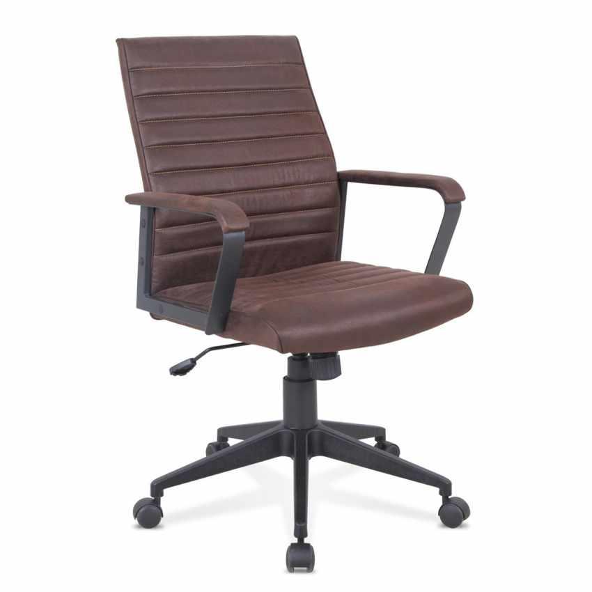 Poltrona ufficio elegante sedia ecopelle ergonomica LINEAR - sales