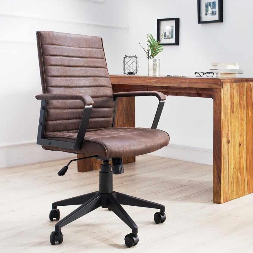 Poltrona ufficio elegante sedia ecopelle ergonomica LINEAR - best