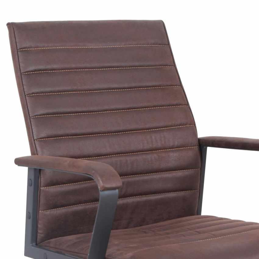 Poltrona ufficio elegante sedia ecopelle ergonomica LINEAR - photo