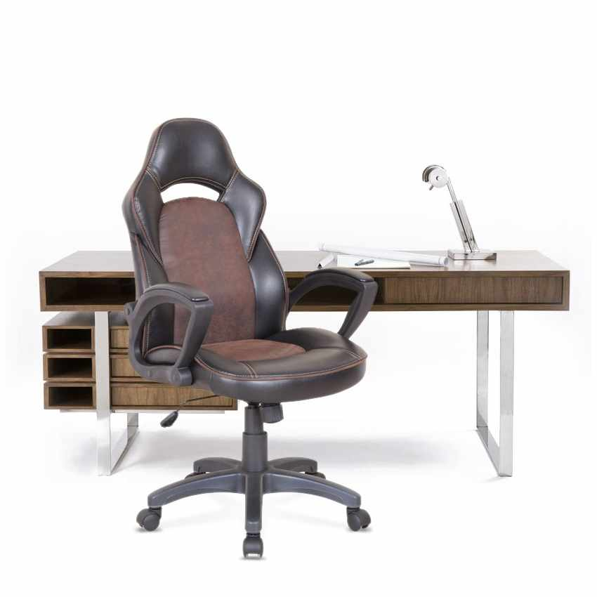 Chaise de bureau sport fauteuil gamer ergonomique simili cuir PRO - photo