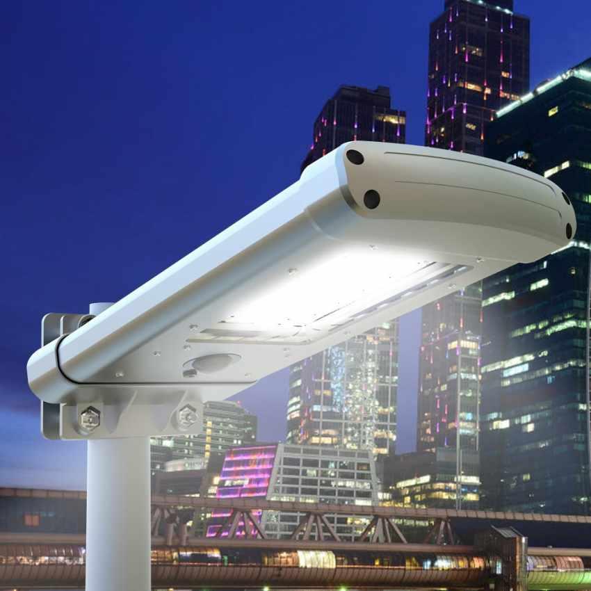 Lampadaire solaire 24 Led pour parc jardin STREET Design - migliore
