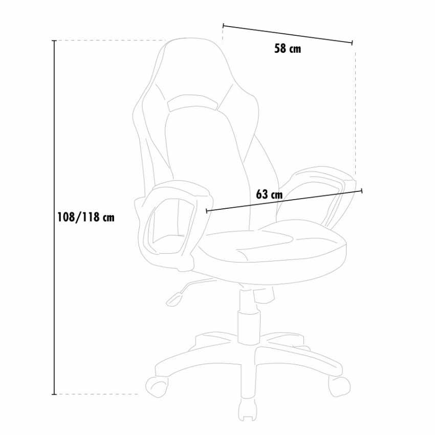 Racing Office Chair with Ergonomic Design PRO - outdoor