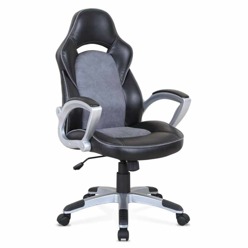 Chaise de bureau sportive fauteuil gamer ergonomique simili cuir EVOLUTION - price