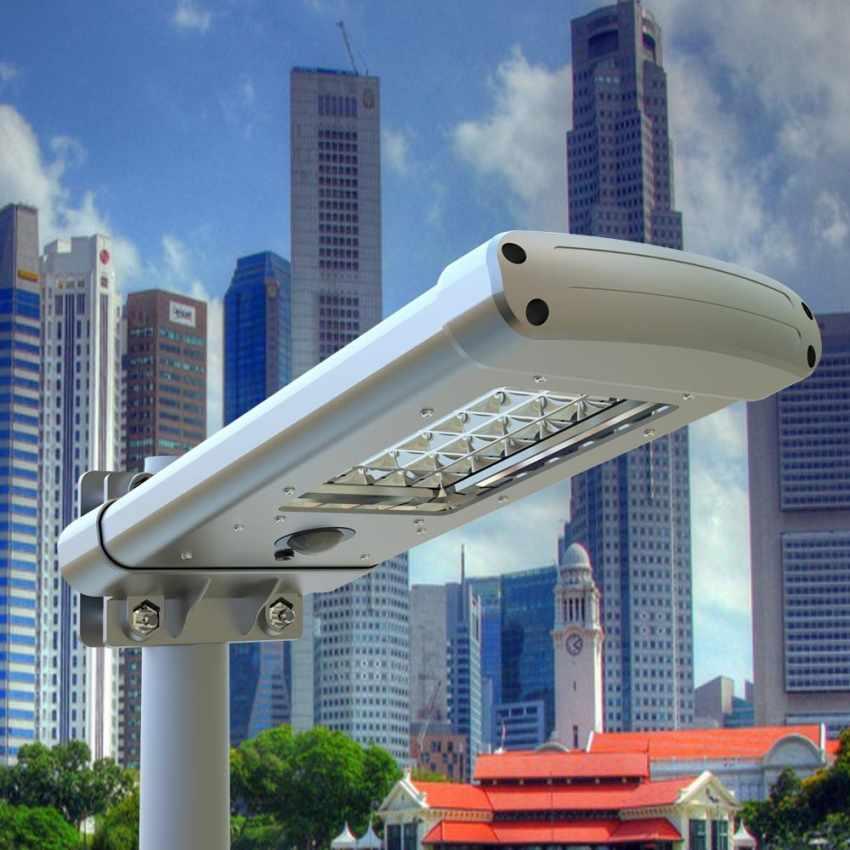 Lampione a 24 Led Solare crepuscolare Strada e Giardino STREET - details