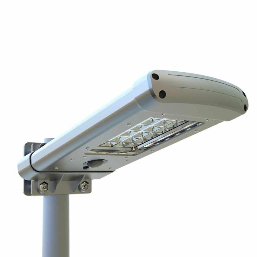 Lampione a 24 Led Solare crepuscolare Strada e Giardino STREET - promo