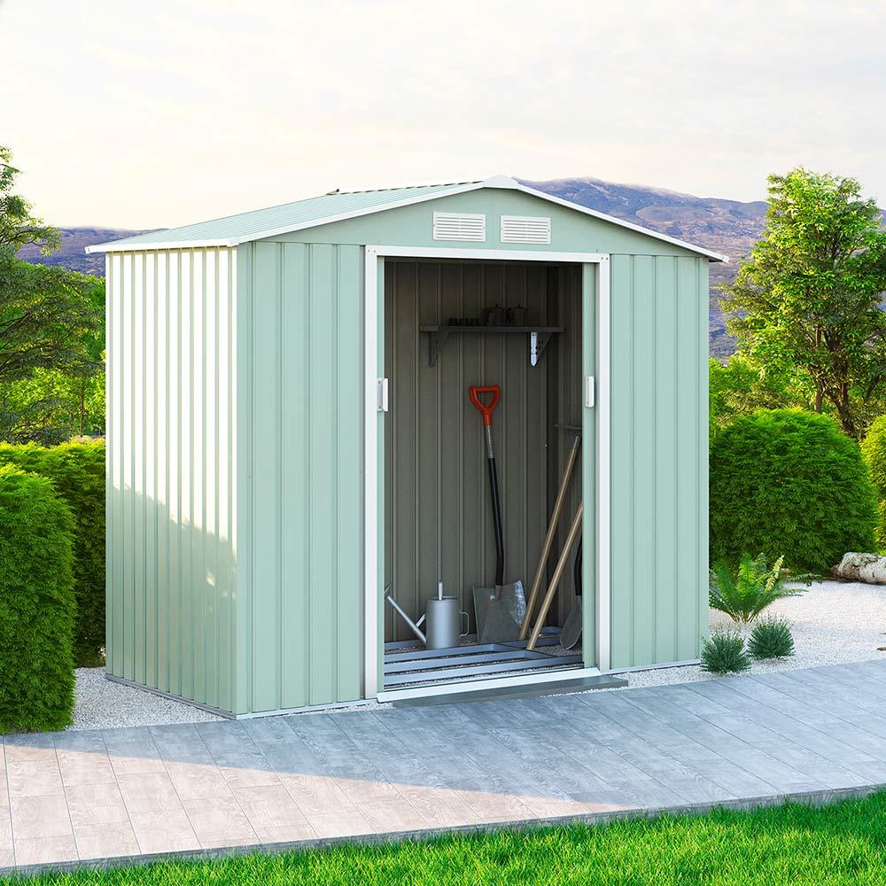 Casetta da giardino box in lamiera rimessa attrezzi Chalet NATURE 213x127x195cm - Verkauf