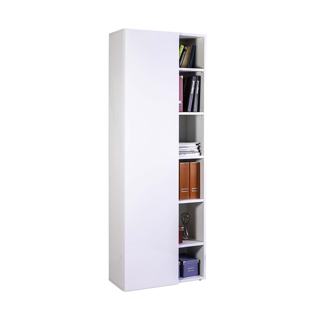 Libreria design moderno bianca lucida per ufficio e studio ...