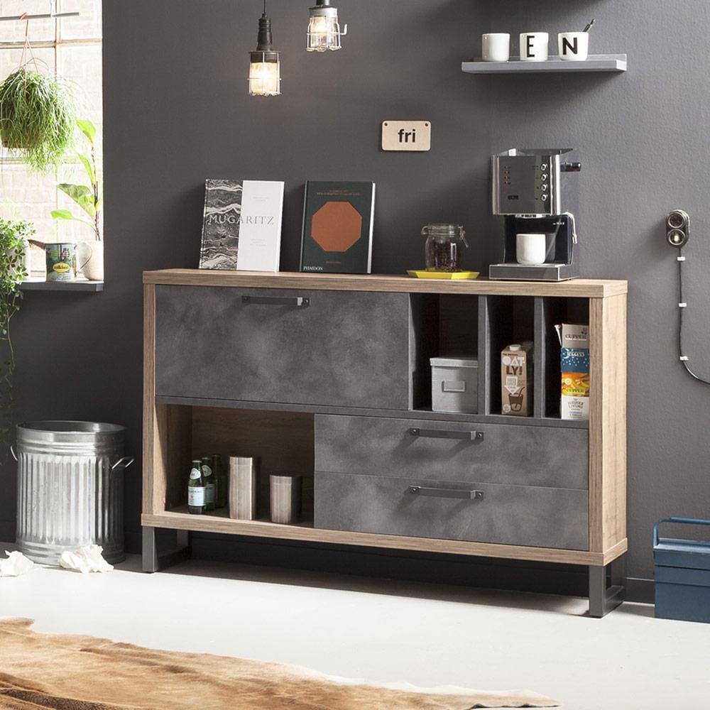Cassettiera stile industriale per soggiorno e camera da letto Melbourne