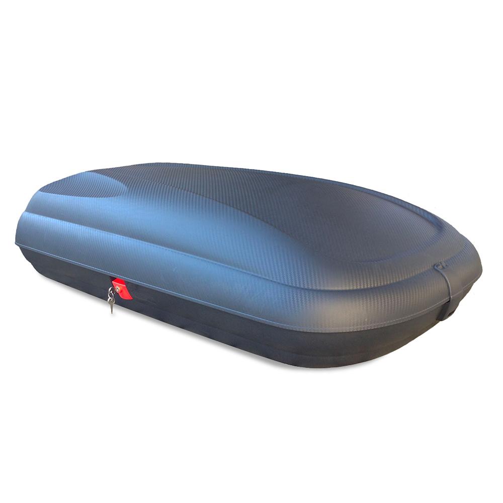 Baule box da tetto universale per auto 320 litri portatutto CARBON LOOK - new