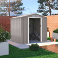 Box in lamiera zincata grigio casetta porta utensili giardino St.Moritz 213x191x195cm