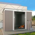 Casetta lamiera metallo grigio zincata box giardino utensili PortoCervo 261x181x176cm