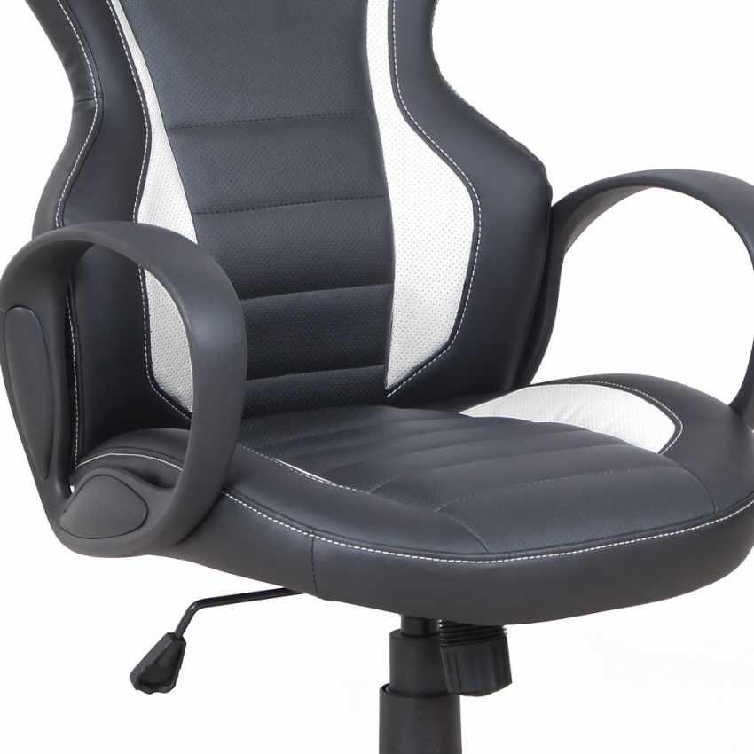 Chaise de bureau sport fauteuil gamer ergonomique simili cuir F1 - new