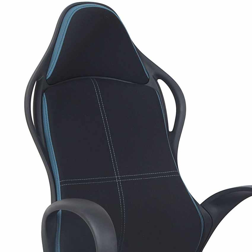Poltrona racing sedia ufficio sportiva gaming microfibra ergonomica LOS ANGELES - discount