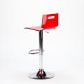 Sgabello per bar e cucina acciaio cromato SAN JOSE Design Moderno - discount