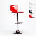 Sgabello per bar e cucina acciaio cromato SAN JOSE Design Moderno - details