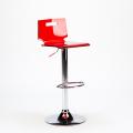 Sgabello per bar e cucina acciaio cromato SAN JOSE Design Moderno - photo