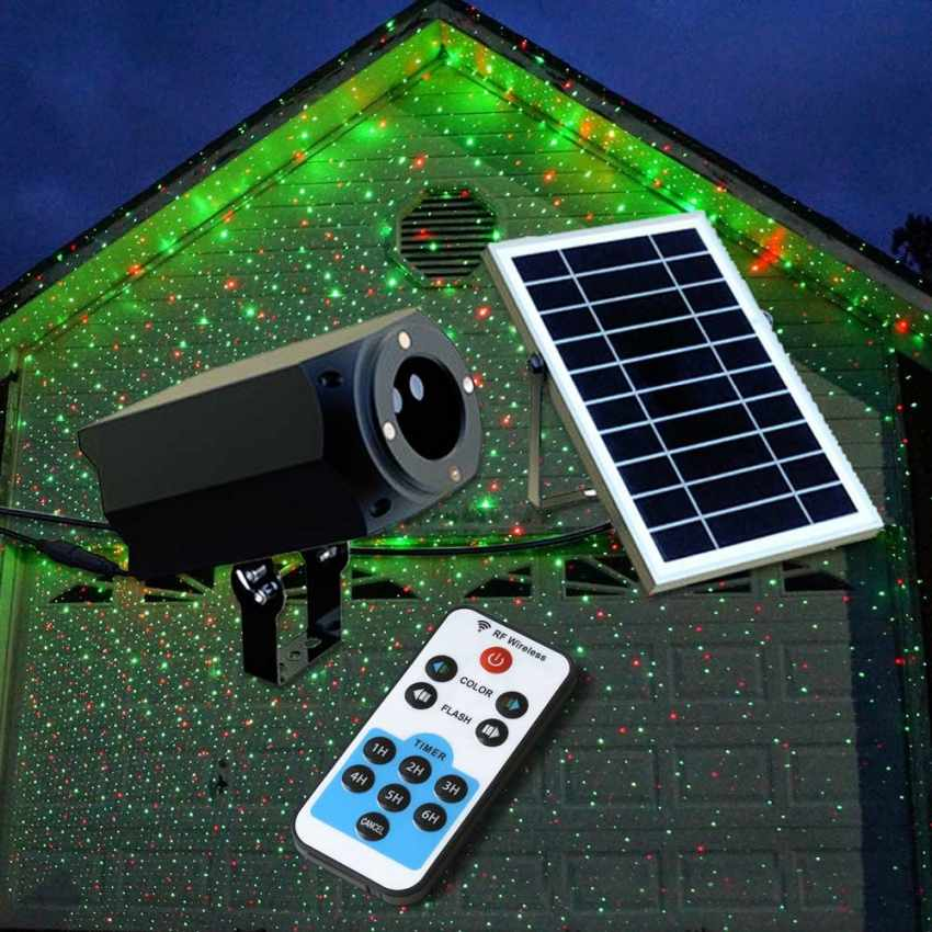 Proiettore Luci Laser Natale.Proiettore Laser Luce Nataliza Luminaria Led A Energia Solare Christmas