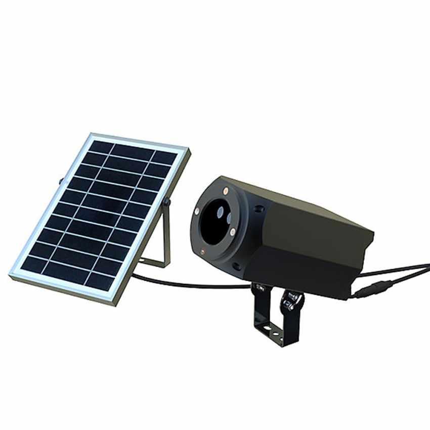 Projecteur LED Laser façade CHRISTMAS avec panneau solaire et télécommande - outdoor