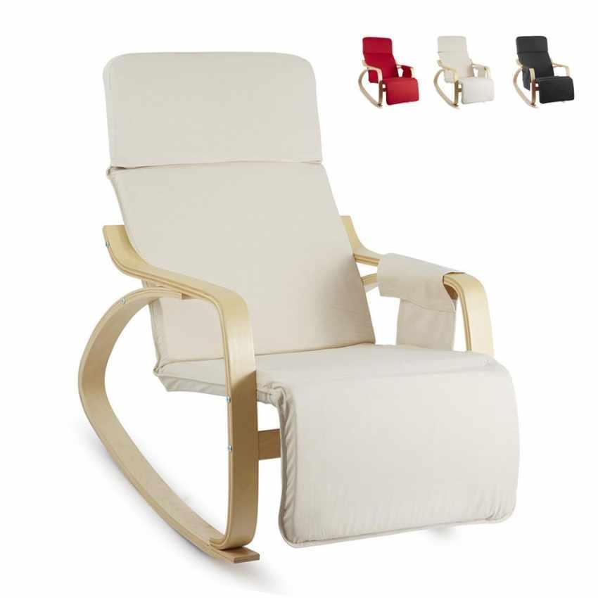 Sedia a Dondolo regolabile in legno RELAX ergonomica per Casa e Salotto - sales
