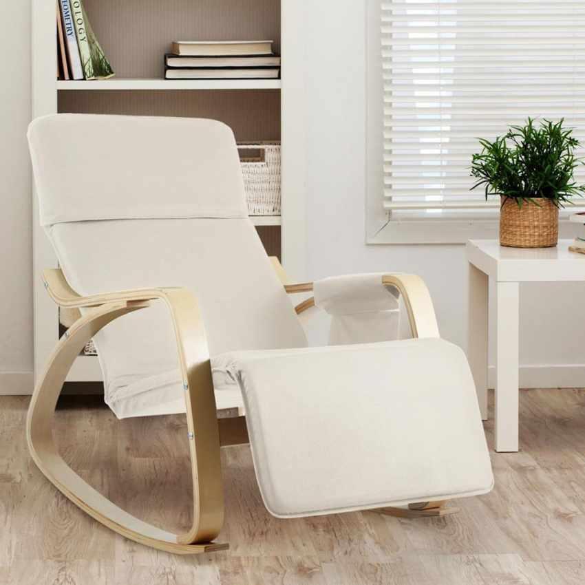 Sedia a Dondolo regolabile in legno RELAX ergonomica per Casa e Salotto - best